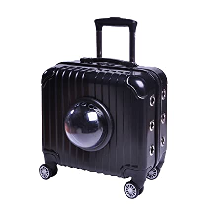 c5adba83d Rolling Pet Travel Carrier Portable Hard-Sided Air Travel Bag With Wheels  Transparent Cover Waterproof