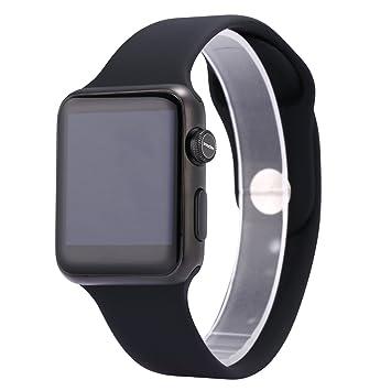 IWO Watch - Reloj inteligente de 2ª generación, versión 2017 (Iwo 3) con correa de goma, negro: Amazon.es: Electrónica