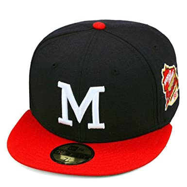 low priced 01562 a86ed New Era 59fifty Milwaukee Braves Authentic Baseball Hat Cap World Series  1957 Side Patch MLB (
