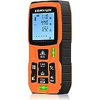 Lomvum Medidor Laser de Distancia, 50M Profesional Metro Laser,Telemetro Laser con Precisión 2mm,Niveles de Burbuja