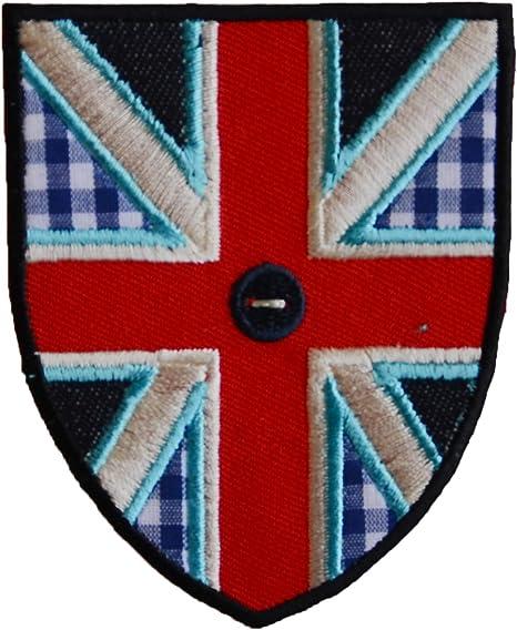 2 Parche de bordado o planchado Bandera Del Reino Unido 7X9Cm Ardilla 8X8Cm termoadhesivos bordados aplique para ropa con diseño de TrickyBoo Zurich Suiza por España: Amazon.es: Bebé