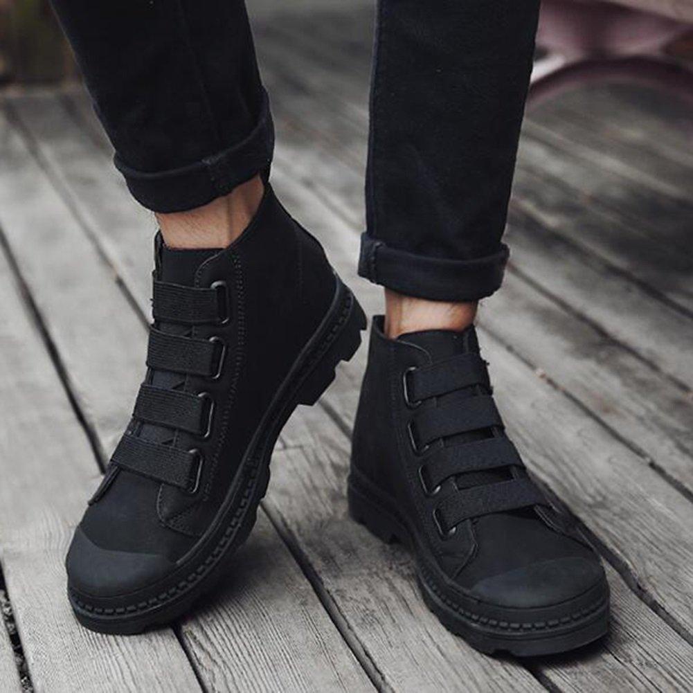 SUN Herren Herbst und Winter britischen britischen britischen Retro-Platte Schuhe High State Freizeit schwarz braun   Gun Farbe (Farbe   1, größe   EU43 UK9 CN44)  56d966
