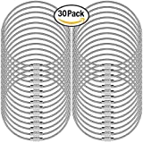 "30 pcs Wire Keychains, SENHAI 5.2"" / 13cm Key Ring 2mm Cable Loops Stainless Steel Gear for Hanging Luggage Tag, Key Rings and ID Tag Keepers - Silver"