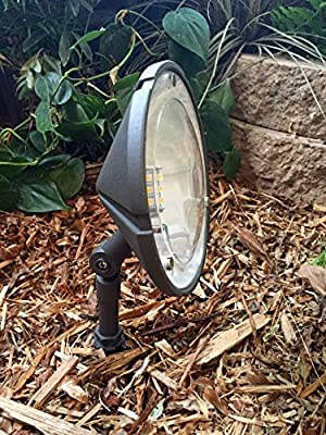 Bronze Color Taurus Wall Wash Light By Pinnacle Lights - LED Low Voltage Outdoor Landscape Lighting