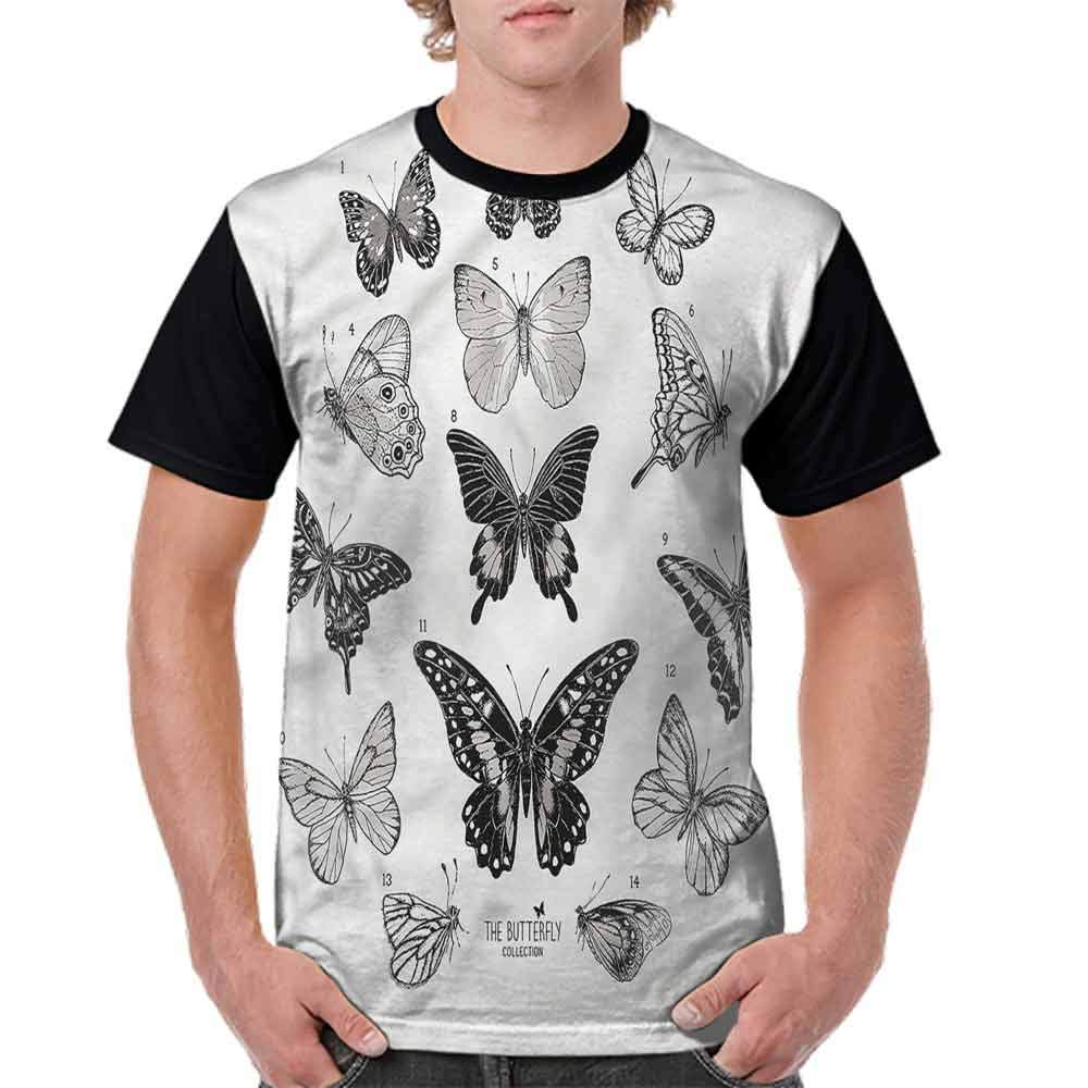 Teen t-Shirt,Floral Art and Butterfly Fashion Personality Customization