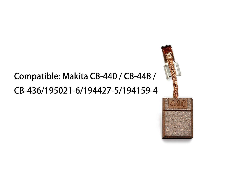 EsportsMJJ 2pcs Carbon Brush Power Tool Replacement for MAKITA CB-440 BHP458 18V BDF452 BHP454