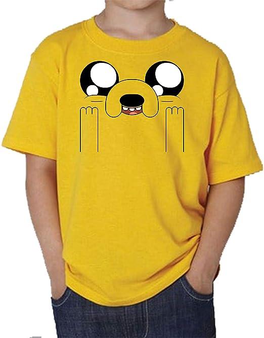 The Fan Tee Camiseta de NIÑOS Hora de Aventuras Jake Finn 010: Amazon.es: Ropa y accesorios