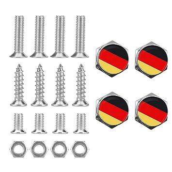 DSYCAR Tornillos de Metal Cromado para matrícula de Coche, Diseño con el Logotipo de la Fuerza Aérea de EE. UU.: Amazon.es: Coche y moto