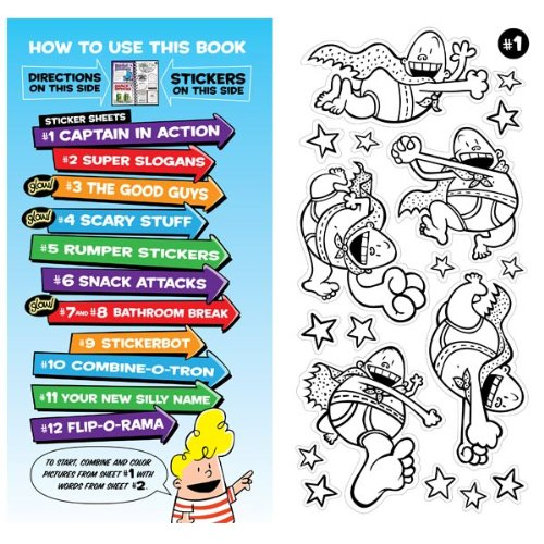 Amazon com the captain underpants super silly sticker studio dav pilkey editors of klutz toys games