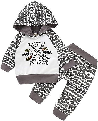 2pcs bébé garçons filles enfants mignon manteau Tops Pantalons Tenues Ensemble Vêtements 0-6 M
