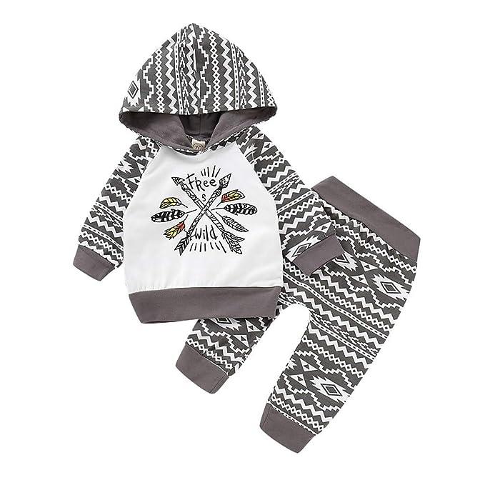 elegantes Aussehen begrenzter Verkauf kinder Lookhy Säugling Langärmelige Letterhood Kapuze Top Hose Set ...