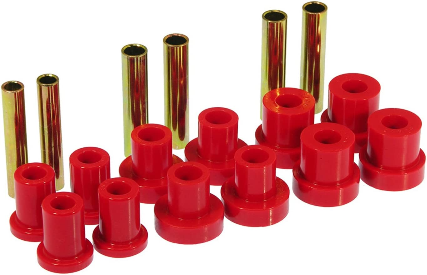 Prothane 7-1015 Red Front Spring and Shackle Bushing Kit with Rancho Springs