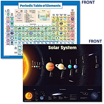 LAMINATED Solar System Poster u0026 Periodic Table of Elements Chart for Kids (2018) - 2 Poster Set (18 x 24)  sc 1 st  Amazon.com & Amazon.com: Periodic Table of Elements Poster For Kids - LAMINATED ...