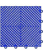"IncStores Vented Nitro Garage Tiles 12""x12"" Interlocking Garage Flooring (Blue - 52-12""x12"" Tiles)"