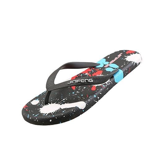 a58881ee7 Zapatillas Chanclas de Verano de los Hombres Sandalias de la Versión  Coreana Pisos Antideslizantes de los Hombres Zapatillas de Playa Casuales   Amazon.es  ...
