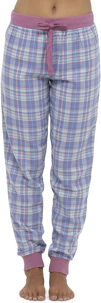 TALLA 42. Pantalones de pijama de Foxbury, para mujer, de cuadros