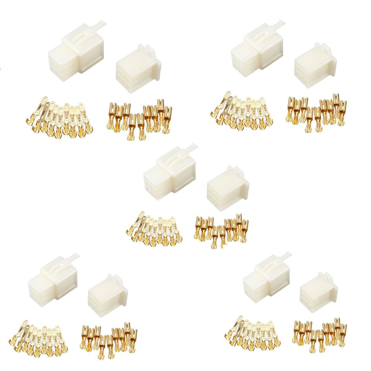 Connector Kit - TOOGOO(R) 5x 9 Way 2.8mm Mini Connector Kit Car Motorcycle Pin Terminal Blade ATV White by TOOGOO(R) (Image #6)
