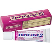 TOPICAINE 5 - Net Weight 1/3 OZ (10 grams) Lidocaine Anesthetic Anorectal Numbing Gel