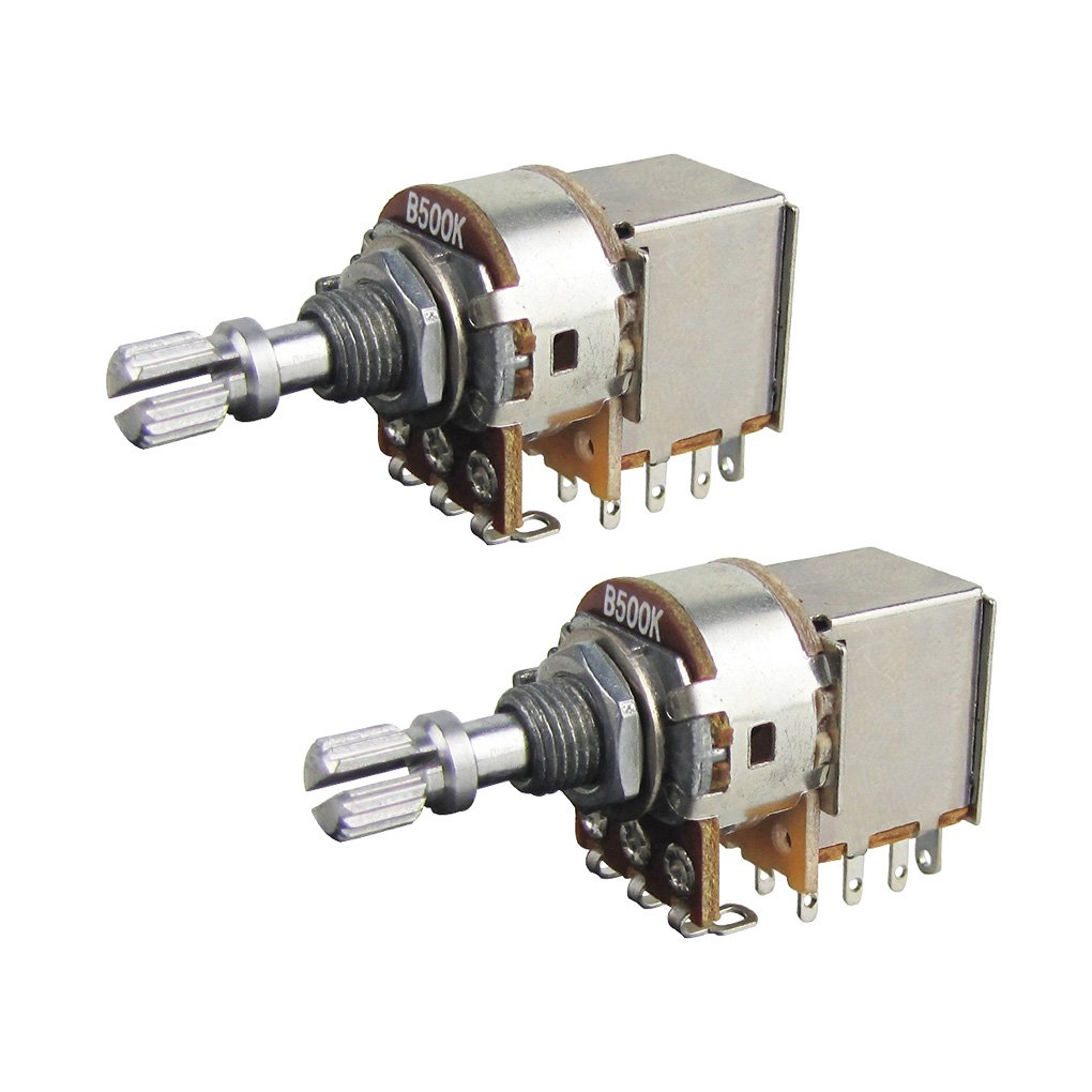 Amazon.com: IKN 4pcs B250K Push Pull Guitar Tone Volume Control Pot  Potentiometer/Linear Potentiometer L15mm Shaft: Musical Instruments