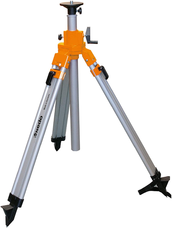 2,03m f/ür Rotationslaser inkl einem DEWEPRO Zollstock 2m NEDO/® mittelschweres Kurbelstativ 0,78m
