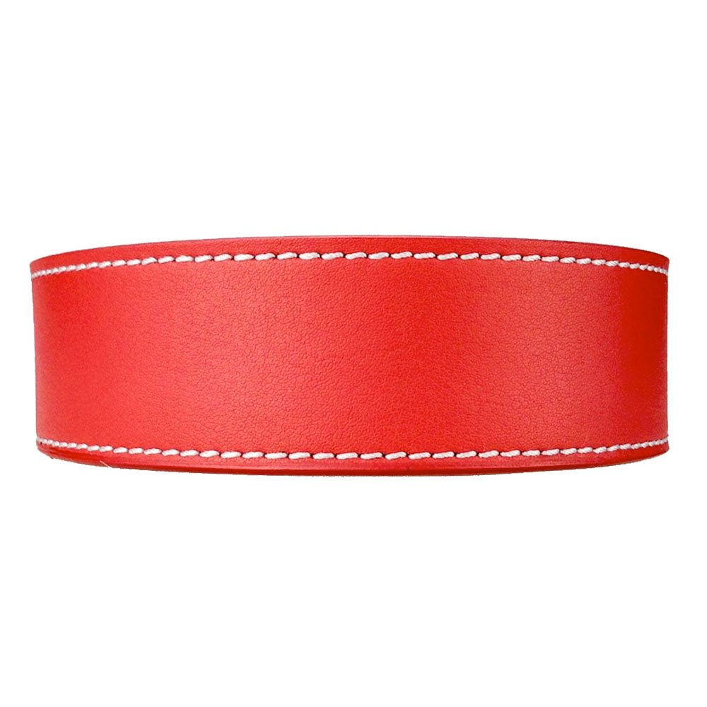 Precise Fit Strap: Sunday Red II The Belt with No Holes Mens Classic Leather Belt Strap Only Nexbelt Rachet System Technology