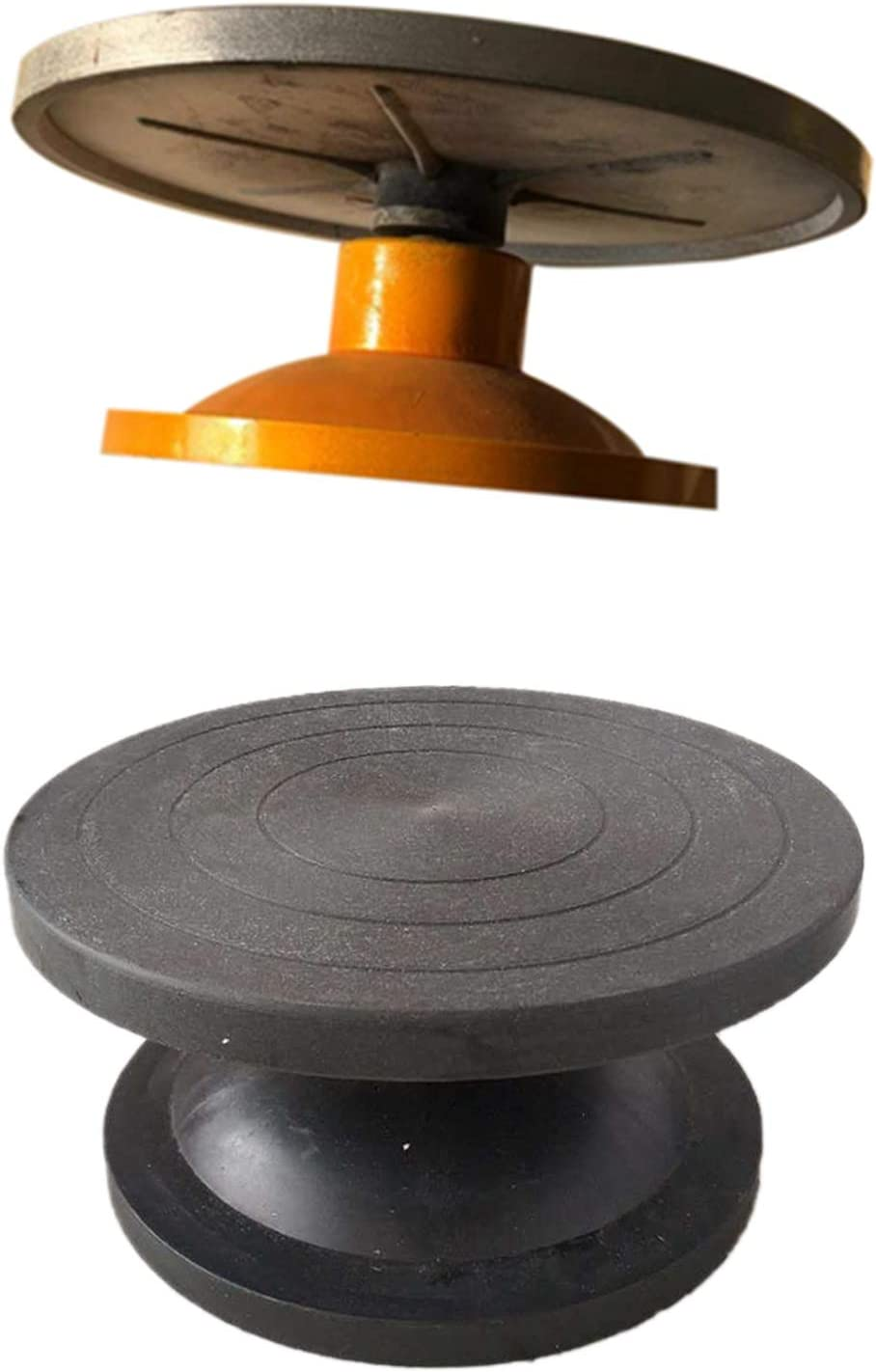 Cavis Table Tournante /à Roue Table Tournante Sculpture en Argile Mod/éLisation de la Poterie Manuel Multifonctionnel Table Tournante Table /à D/éCouper Table de Poterie Roue Noir