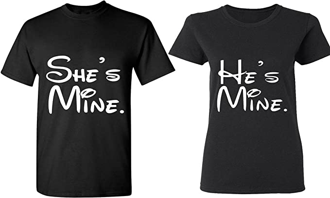 He is My One /& Only She is my One /& Only Couple Matching T SHirts Love Heather