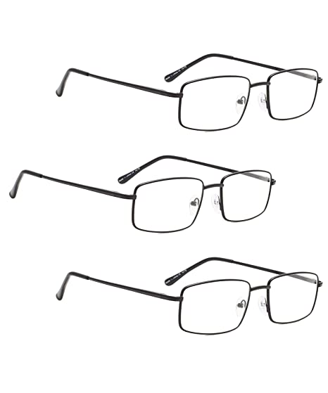 161ed8d7f6a Amazon.com  READING GLASSES 3 pack Large Metal Readers for Men ...