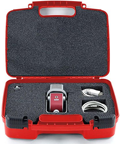 Life Made Better Storage Organizer - Compatible with Blue Raspberry,Mobile USB Studio Microphone And Accessories- Durable Carrying Case - Red
