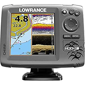 Lowrance hook 5 sonar gps mid high downscan for Amazon fish finder