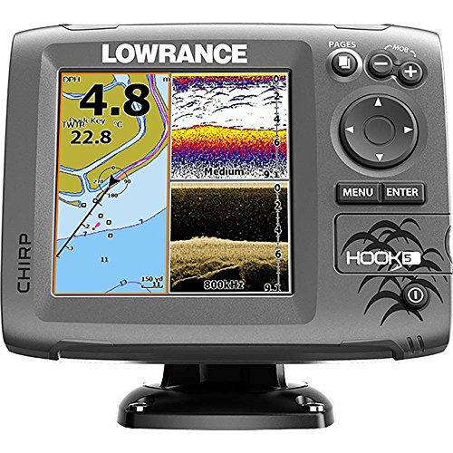 Lowrance Fischfinder kartenplotter Hook 5 Mid High DownScan, 000-12656-001