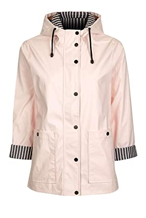 great quality fast delivery the latest Topshop Ex Hooded Waterproof Raincoat Mac In Pink Size 8-16