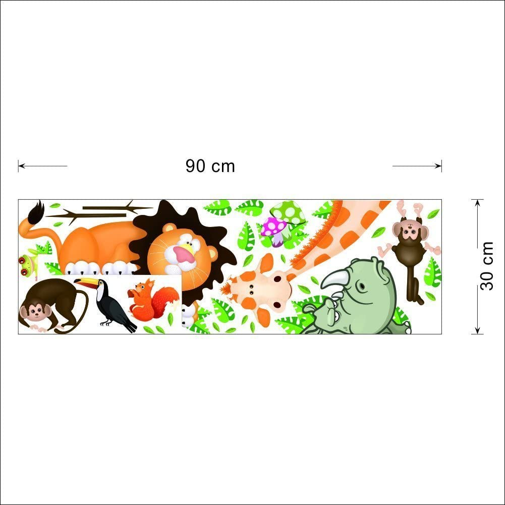Jungle Wild Animal Vinyl Wall Sticker Decals for Kids Baby Bedroom Wall Paper