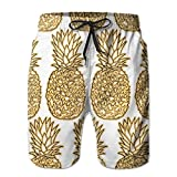 Adults Gole Pineapple Boardshorts Drawstring Quick Dry Board Shorts