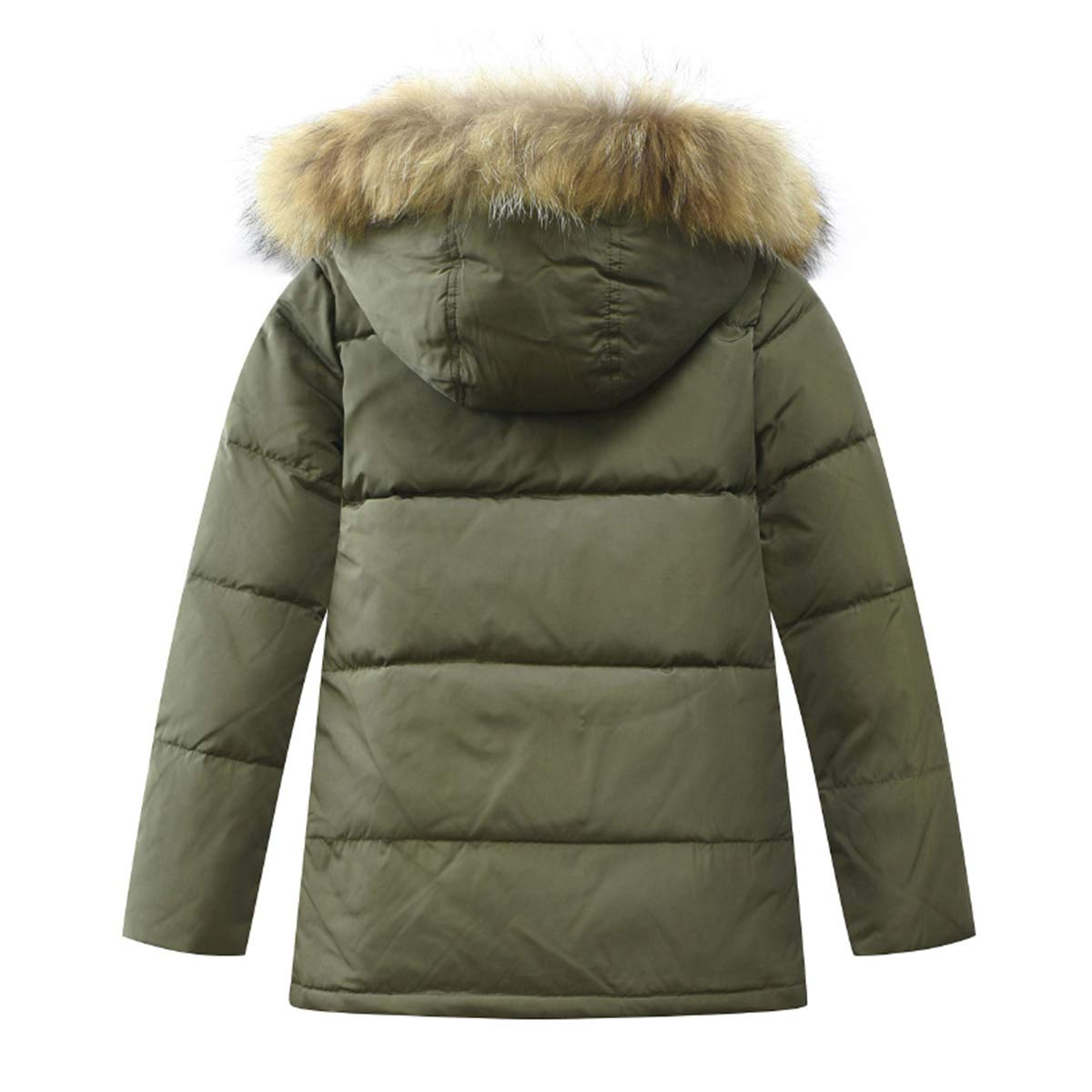 ac8ed6823cb1d Amazon.com  LISUEYNE Boys Kids Winter Hooded Down Coat Puffer Jacket for  Big Boys Mid-Long  Clothing
