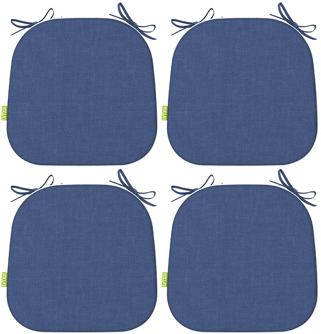 LVTXIII Patio Seat Cushions 16 x 17 Inches Outdoor Chair Pads All Weather Chair Cushions for Garden Patio Furniture Chair Home Set of 4 – Navy Textured