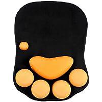Intsun Cute Waterproof Silicone Polyurethane Gel Cat Claw Mousepad (Black)