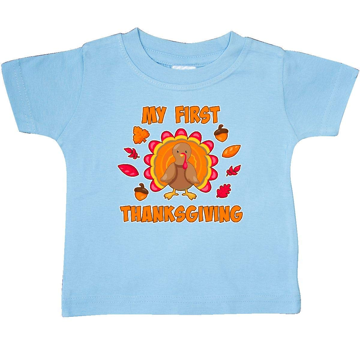 inktastic My First Thanksgiving with Cute Turkey Baby T-Shirt