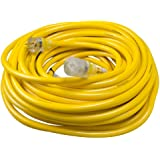 Yellow Jacket 2806 Contractor Extension Cord with Lighted End, 100 Foot, Ft