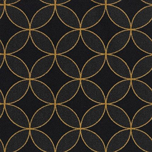 Koeckritz Rugs Eclipse Pattern Indoor 26oz Cut Pile Area Rug (7' Round, Gold)