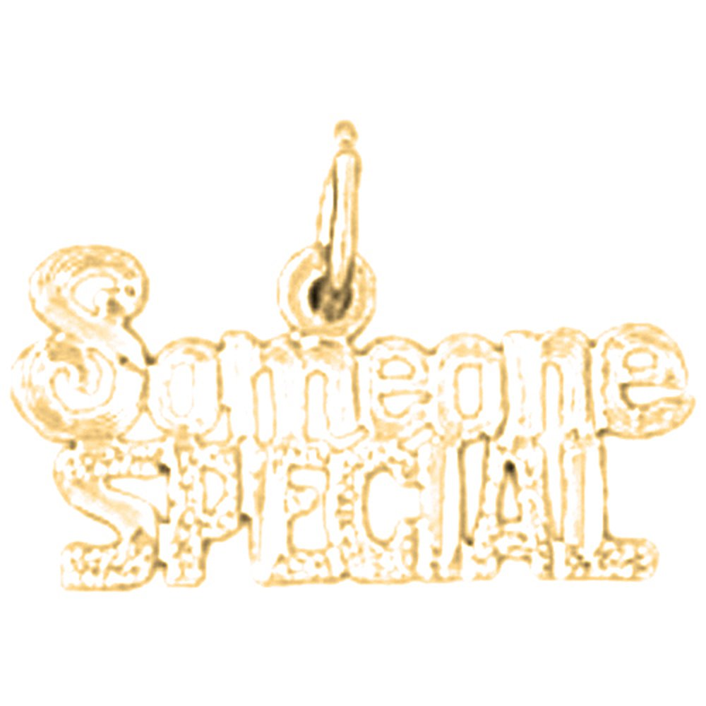 Jewels Obsession Someone Special Necklace 14K Yellow Gold-plated 925 Silver Someone Special Pendant with 16 Necklace