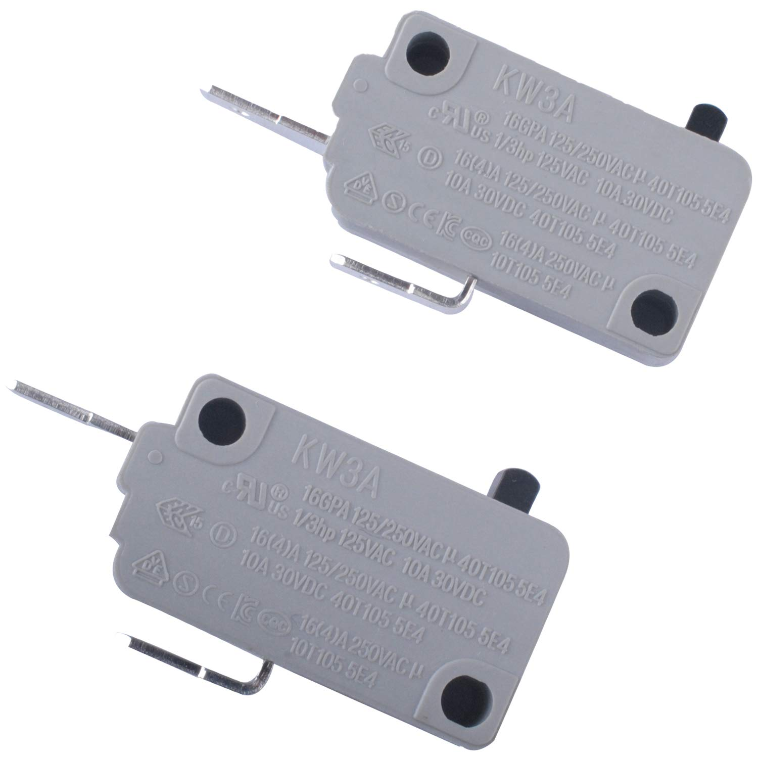 KW3A Microwave Door Switch , 2 Pin Normally Open & Normally Close Micro Switch DR52 16A 125/250V for Microwave Oven Rice Cooker