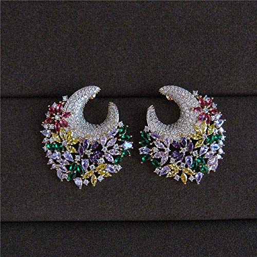 Fashionable Cubic Zirconia Gorgeous and Sweet Wreath Earrings   Women's Accessaries