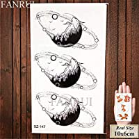 Triángulo negro tatuajes temporales mujeres brazo geométrico ...