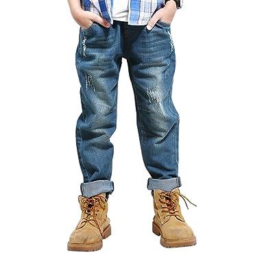 auf Füßen Aufnahmen von Farbbrillanz baby YoungSoul Jeans mit Gummizug Kinder Jungen Jeanshosen Slim ...