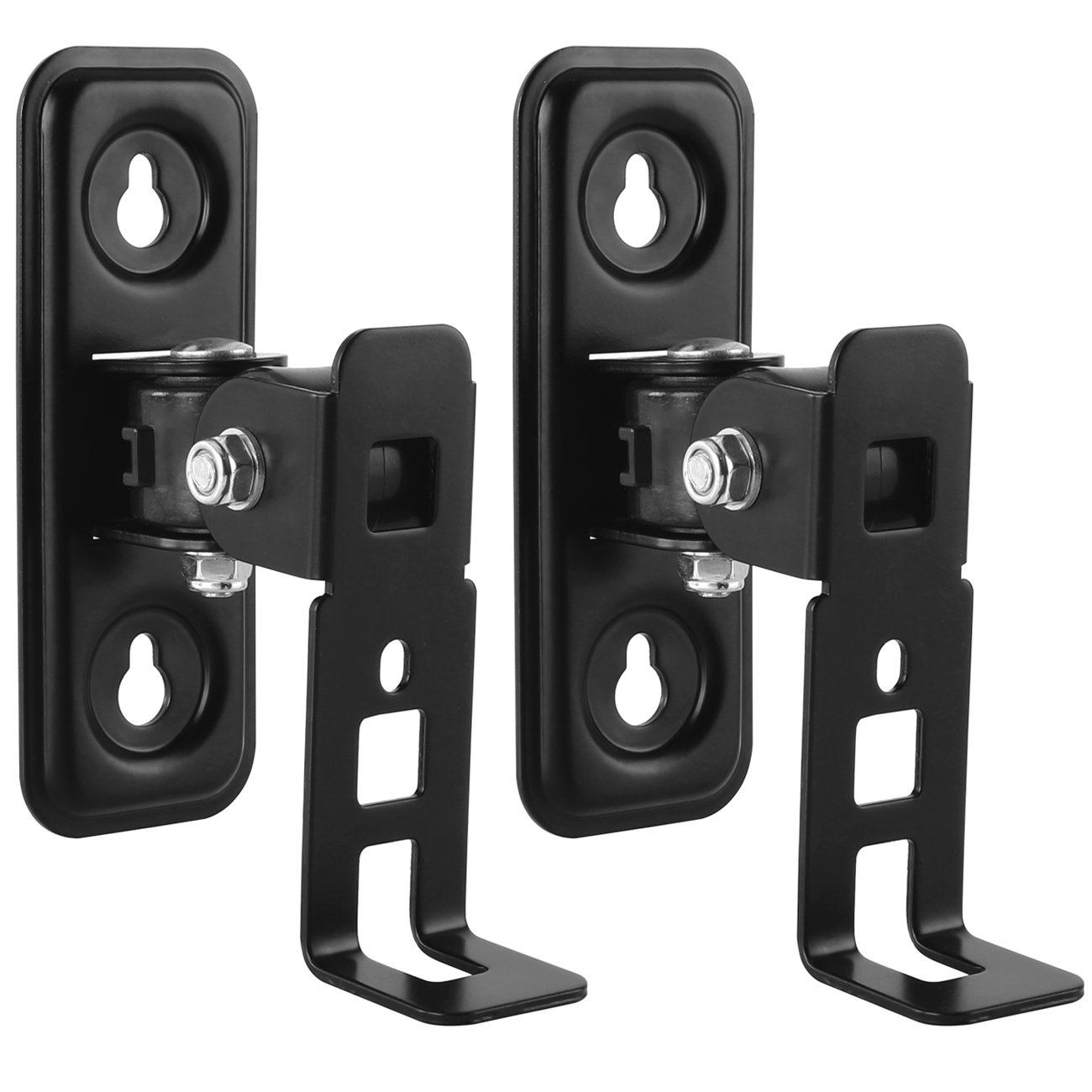 deleyCON Supporto a Muro per Casse Acustiche SONOS Play: 1 Girevole Inclinabile Full-Motion Mount Multiroom Speaker Nero MK-W-95