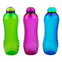 Sistema Twister Bottle, 620ml Assorted colors pack of 3