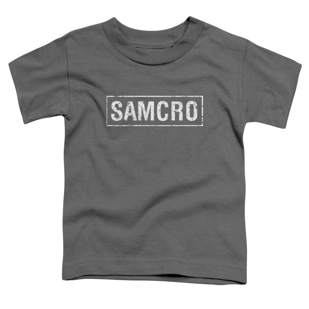 Sons Of Anarchy TV Series Distressed Samcro White Boxed Logo Little Boys Tod Tee