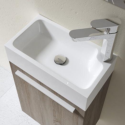 Durovin Small Cloakroom Sink Stone Vanity Unit Bathroom Wash Basin Countertop Or Shelf Mountable Modern En