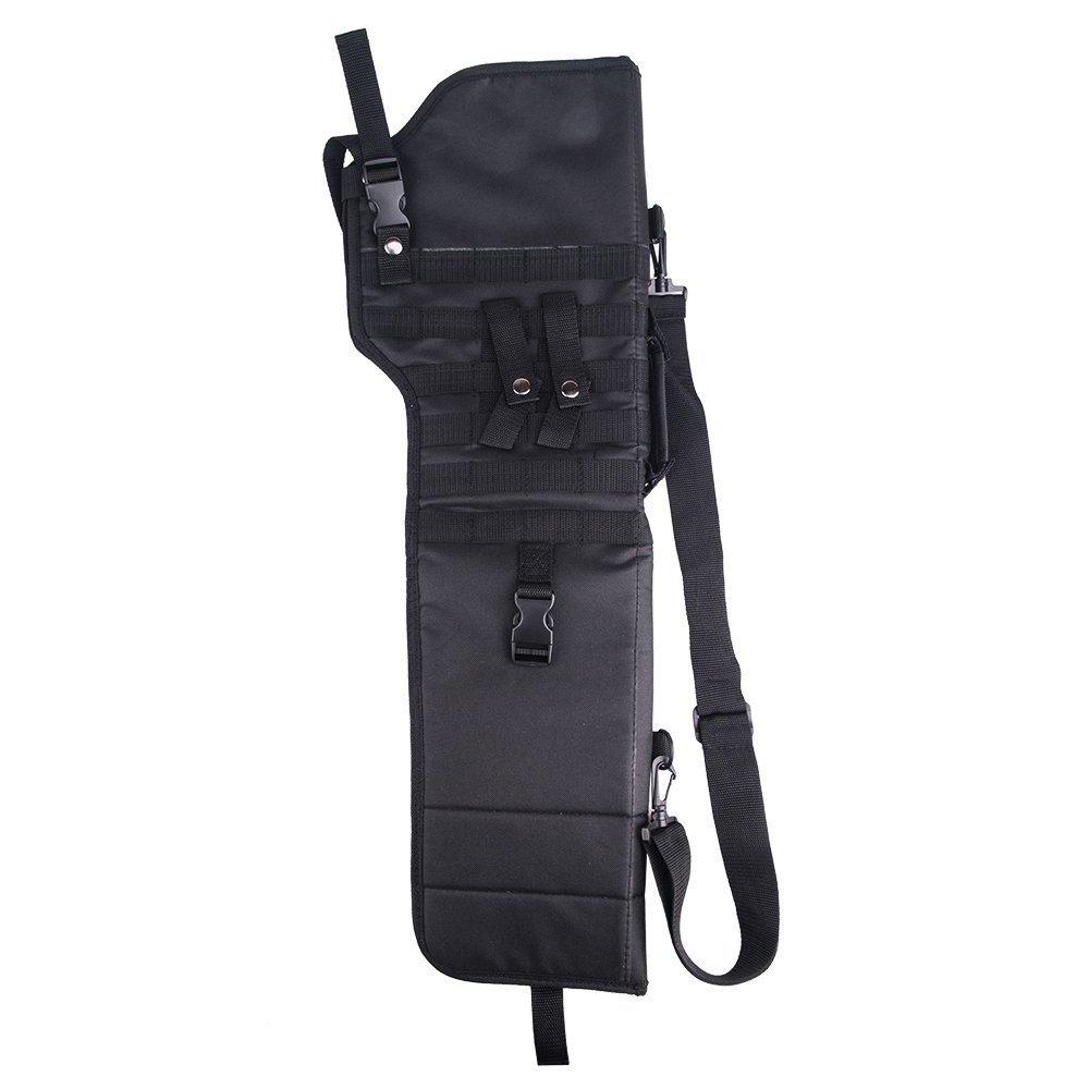 ZKer 29'' Tactical Shotgun Shoulder Bag Rifle Sling Backpack Pistol Shotgun Scabbard Holster Molle Rifle Sling Padded Case Bag Gun Storage Pouch Protective Shotgun Case for Outdoor Hunting Black